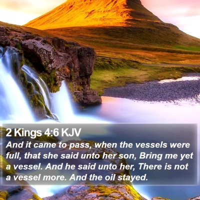 2 Kings 4:6 KJV Bible Verse Image