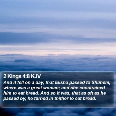 2 Kings 4:8 KJV Bible Verse Image