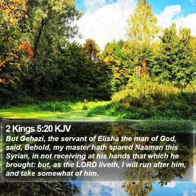 2 Kings 5:20 KJV Bible Verse Image