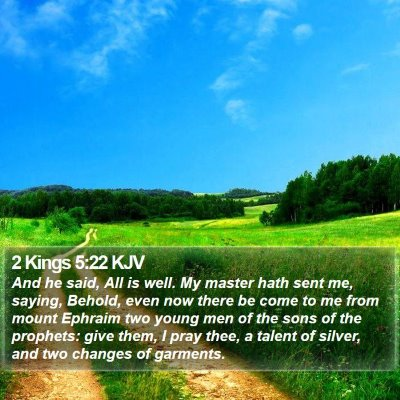 2 Kings 5:22 KJV Bible Verse Image