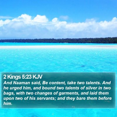 2 Kings 5:23 KJV Bible Verse Image