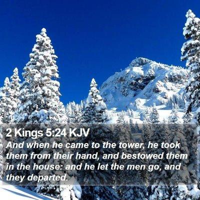 2 Kings 5:24 KJV Bible Verse Image
