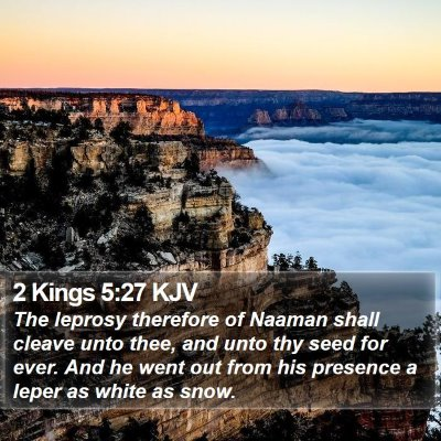 2 Kings 5:27 KJV Bible Verse Image