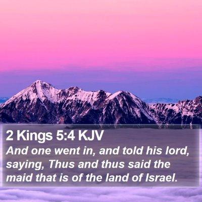2 Kings 5:4 KJV Bible Verse Image