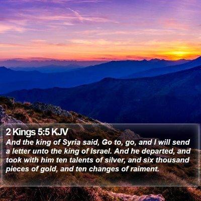 2 Kings 5:5 KJV Bible Verse Image