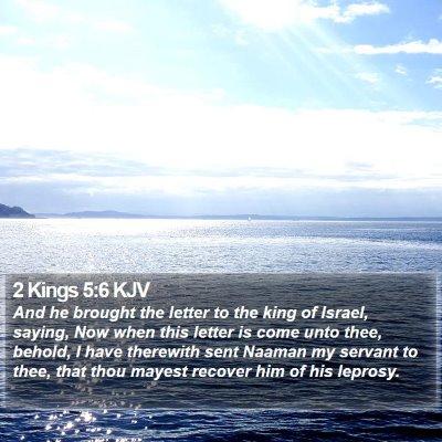2 Kings 5:6 KJV Bible Verse Image