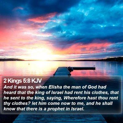 2 Kings 5:8 KJV Bible Verse Image