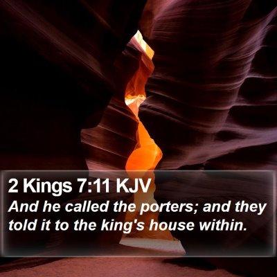 2 Kings 7:11 KJV Bible Verse Image