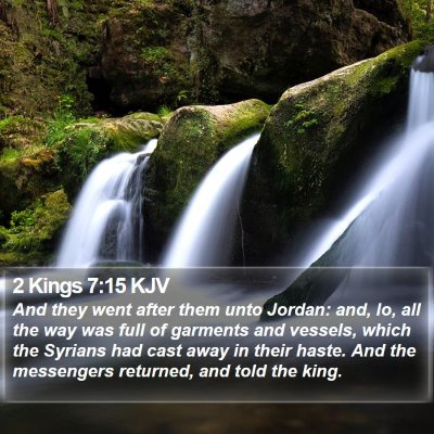 2 Kings 7:15 KJV Bible Verse Image