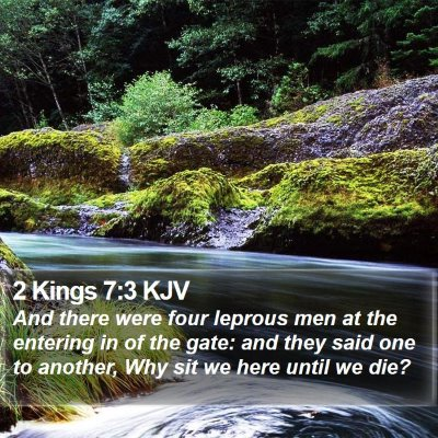 2 Kings 7:3 KJV Bible Verse Image