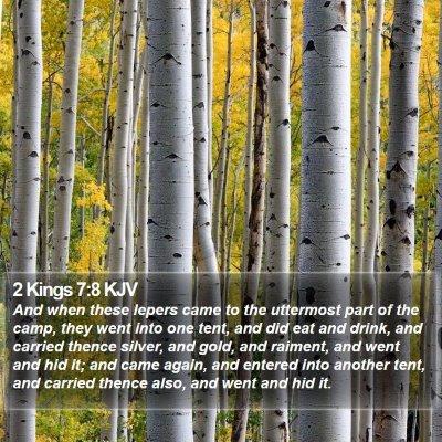 2 Kings 7:8 KJV Bible Verse Image