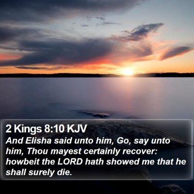 2 Kings 8:10 KJV Bible Verse Image