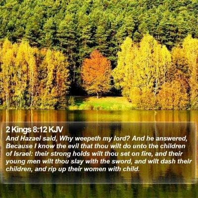 2 Kings 8:12 KJV Bible Verse Image