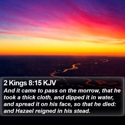 2 Kings 8:15 KJV Bible Verse Image