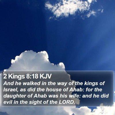 2 Kings 8:18 KJV Bible Verse Image