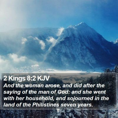 2 Kings 8:2 KJV Bible Verse Image