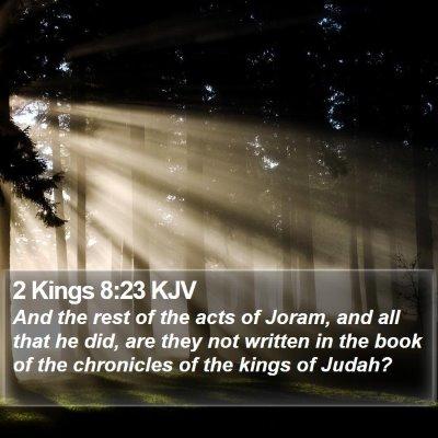 2 Kings 8:23 KJV Bible Verse Image
