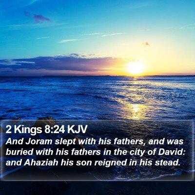 2 Kings 8:24 KJV Bible Verse Image