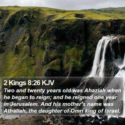 2 Kings 8:26 KJV Bible Verse Image