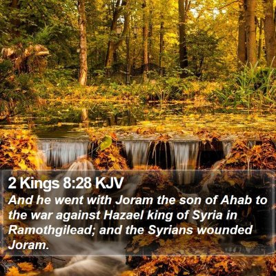 2 Kings 8:28 KJV Bible Verse Image