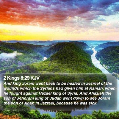 2 Kings 8:29 KJV Bible Verse Image