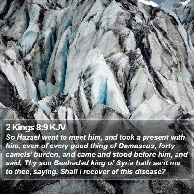 2 Kings 8:9 KJV Bible Verse Image