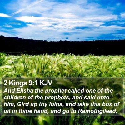 2 Kings 9:1 KJV Bible Verse Image