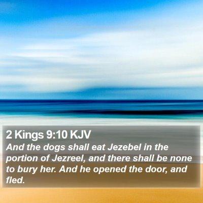 2 Kings 9:10 KJV Bible Verse Image