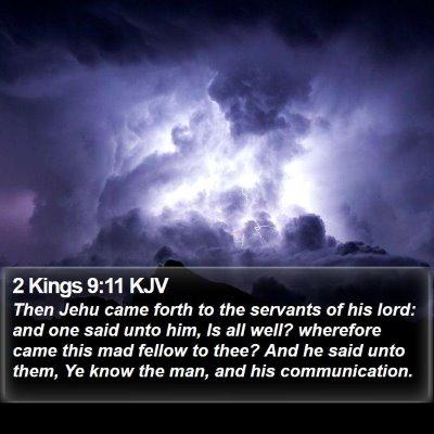 2 Kings 9:11 KJV Bible Verse Image
