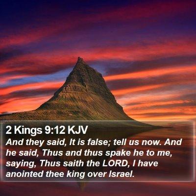 2 Kings 9:12 KJV Bible Verse Image