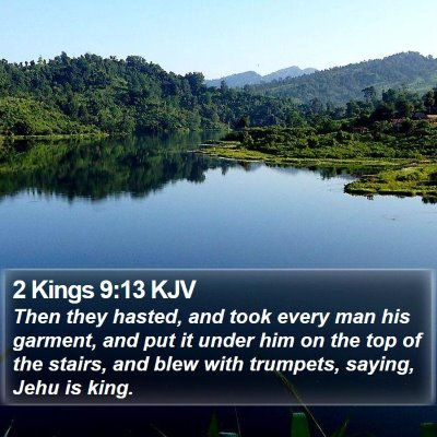 2 Kings 9:13 KJV Bible Verse Image