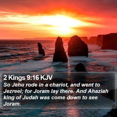 2 Kings 9:16 KJV Bible Verse Image