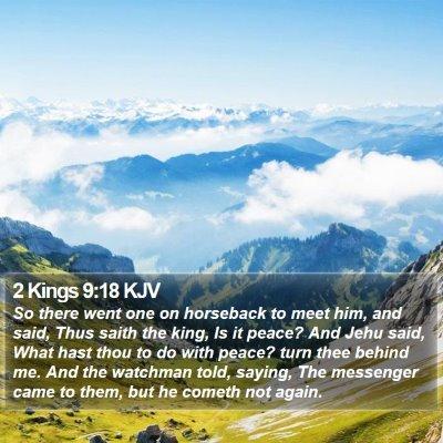 2 Kings 9:18 KJV Bible Verse Image