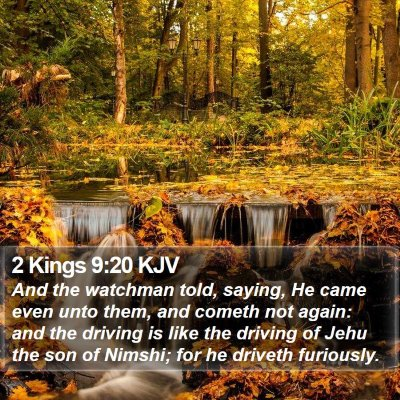 2 Kings 9:20 KJV Bible Verse Image