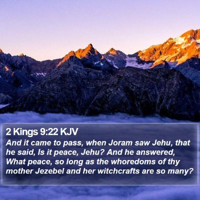 2 Kings 9:22 KJV Bible Verse Image