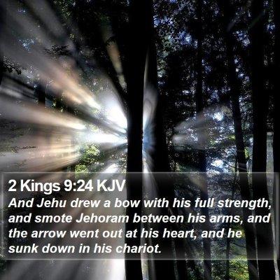 2 Kings 9:24 KJV Bible Verse Image