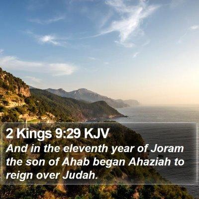 2 Kings 9:29 KJV Bible Verse Image