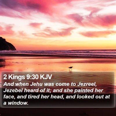 2 Kings 9:30 KJV Bible Verse Image