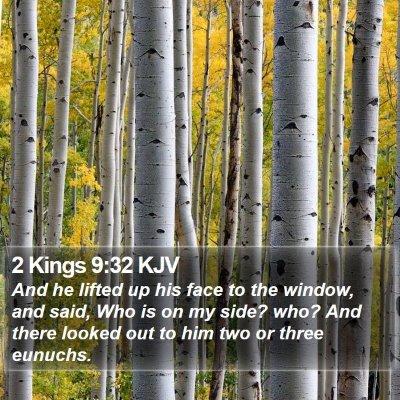 2 Kings 9:32 KJV Bible Verse Image