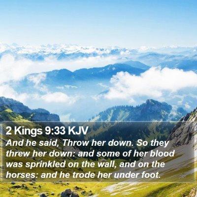 2 Kings 9:33 KJV Bible Verse Image