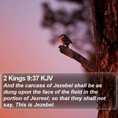 2 Kings 9:37 KJV Bible Verse Image