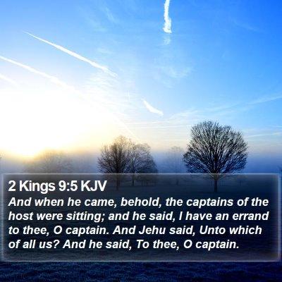 2 Kings 9:5 KJV Bible Verse Image