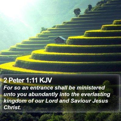 2 Peter 1:11 KJV Bible Verse Image