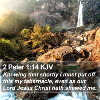 2 Peter 1:14 KJV Bible Verse Image
