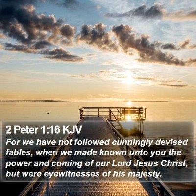 2 Peter 1:16 KJV Bible Verse Image