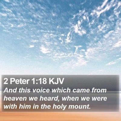 2 Peter 1:18 KJV Bible Verse Image
