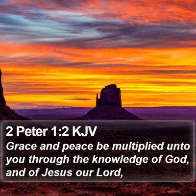 2 Peter 1:2 KJV Bible Verse Image
