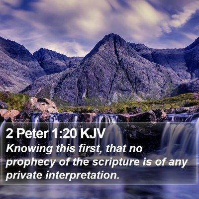 2 Peter 1:20 KJV Bible Verse Image