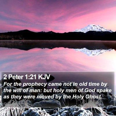 2 Peter 1:21 KJV Bible Verse Image