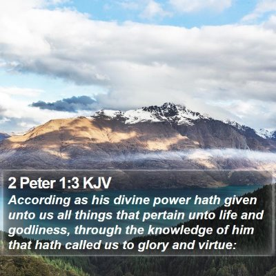 2 Peter 1:3 KJV Bible Verse Image